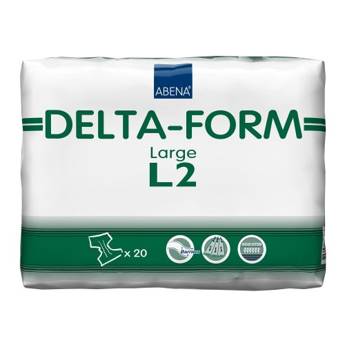 Abena® Delta-Form Adult Heavy-Absorbent Incontinence Brief, Large, Green, 20/BG
