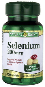 Nature's Bounty Selenium Supplement, 1/BT