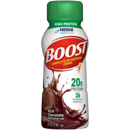 BOOST® High Protein Drink Oral Supplement, Chocolate, 8 oz. Bottle, 1/EA