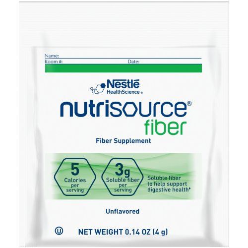 Nutrisource® Fiber Oral Supplement, 4 Gram Individual Packet, Powder, Unflavored, 1/EA