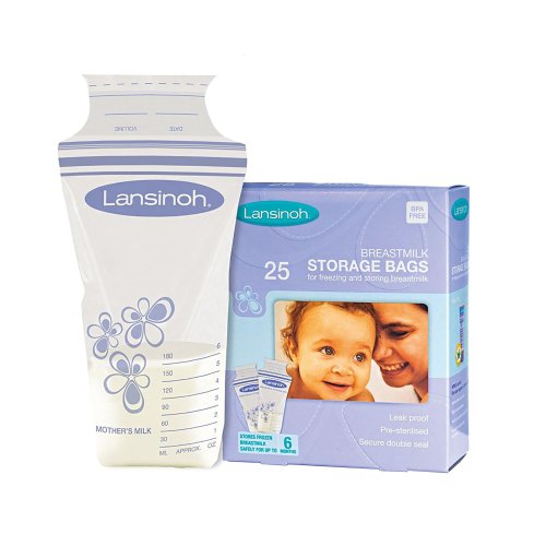 Lansinoh® Breast Milk Storage Bag, 25/BX