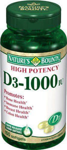 Nature's Bounty Vitamin D-3 Supplement, 1/BT