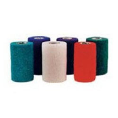 Co-Flex® NL Standard Compression Non-Sterile Cohesive Bandage, 4 Inch x 5 Yard, Teal/Blue/White/Purple/Red/Green, 18/CS