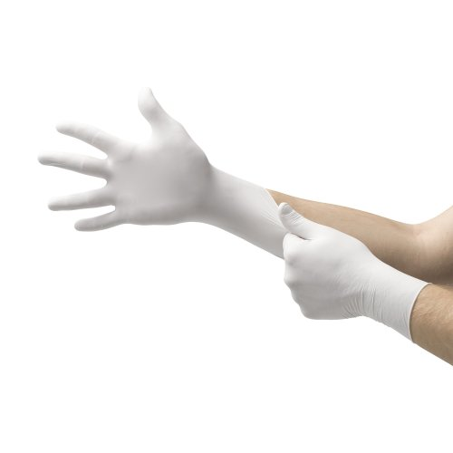 Ansell Micro-Touch® Plus Exam Glove, Large, Ivory, 9.5 Inch Length, 150/BX