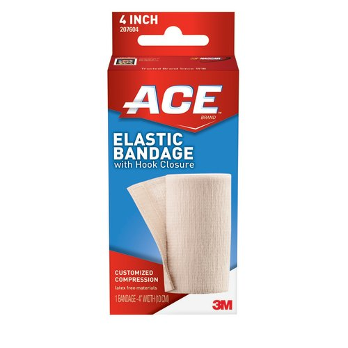 ACE™ Elastic Bandage with Clips, 4 Inch, 1/EA