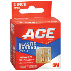 ACE™ Brand Elastic Bandage with Clips, 2-Inch Width, 1/EA