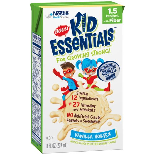 Boost® Kid Essentials™ 1.5 with Fiber Oral Supplement/Tube Feed Formula, Vanilla, 8 oz. Tetra Brik, 1/EA