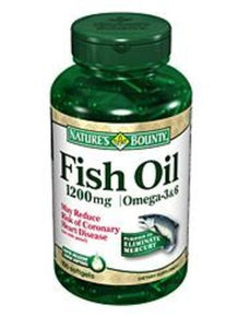 Nature's Bounty Omega-3 Fish Oil Supplement, 1/BT