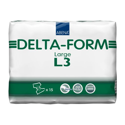 Abena® Delta-Form Adult Heavy-Absorbent Incontinence Brief, Large, Green, 60/CS