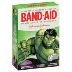 Band-Aid® Adhesive Strip, assorted sizes, 20/BX