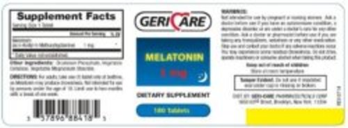 Geri-Care Melatonin Supplement, 180/BT