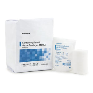 McKesson Sterile Conforming Bandage Roll, 3 in. x 4-1/10 yd., 96/CS