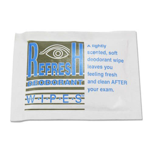 Refresh Deodorant Wipes™ Mammography Wipe, 50/BX