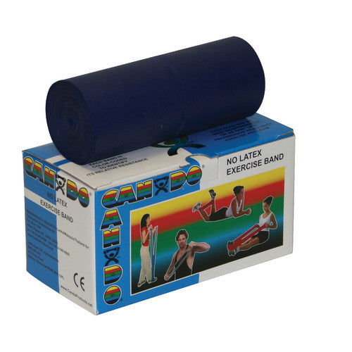 CanDo® Heavy Exercise Resistance Band Rolls, Blue, 5 in. W x 6 yd. L, 1/EA