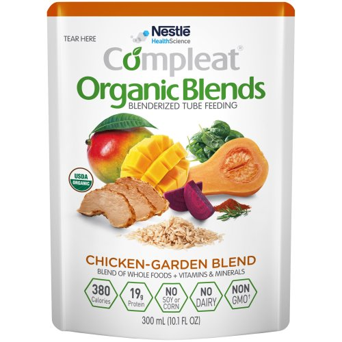 Compleat® Organic Blends Ready to Use Oral Supplement / Tube Feeding Formula, Chicken-Garden, 10.1 oz. Pouch, 1/EA