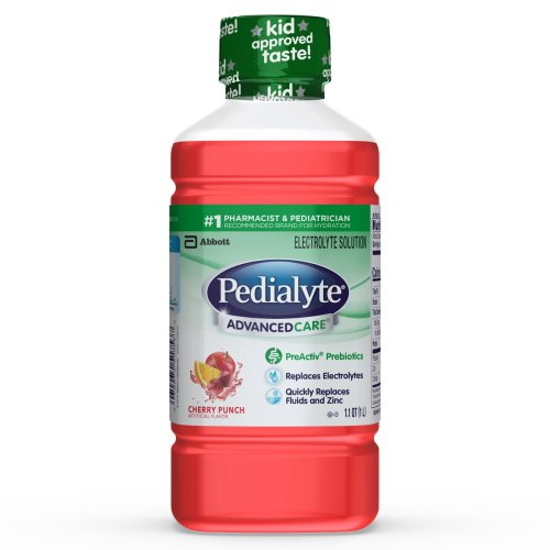 Pedialyte® AdvancedCare™ Pediatric Oral Electrolyte Solution, Cherry Punch, 1 Liter Bottle, 1/EA