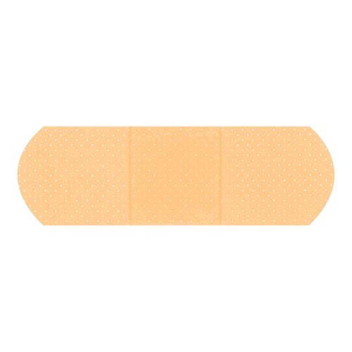 American® White Cross First Aid Rectangular Sterile Adhesive Plastic Strip, 1 x 3 in., Sheer, 1200/BX