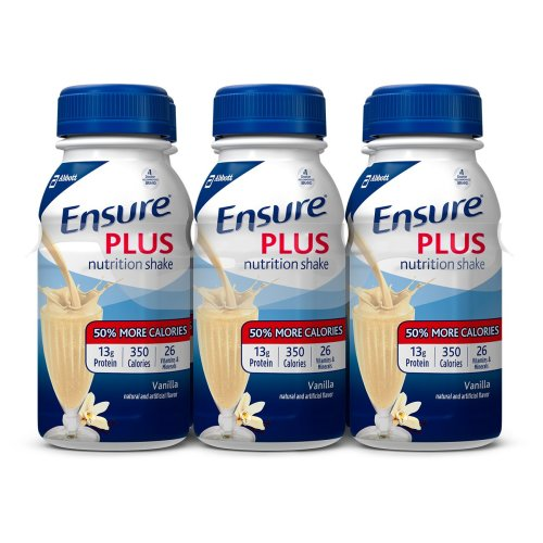 Ensure® Plus Oral Supplement, Vanilla, 8 oz. Bottle, 6/PK