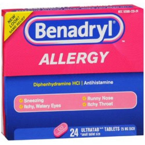 Benadryl® Allergy Relief, 24/BX