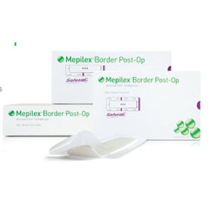 Mepilex® Border Post-Op Foam Dressing, 4 x 6 inch, 10/BX