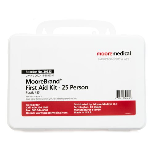 MooreBrand® First Aid Kit - 25 Person, 1/EA