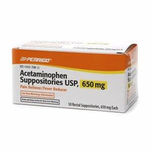 Perrigo Acetaminophen Suppositories, 1/BX