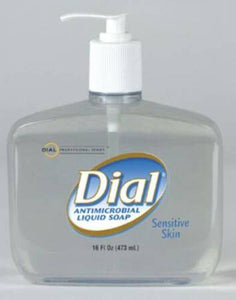 Dial® Sensitive Antimicrobial Soap 16 oz. Pump Bottle, 1/EA