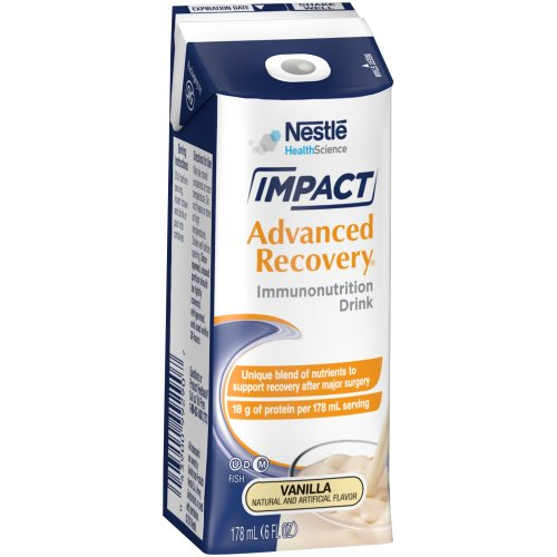 Impact Advanced Recovery® Ready to Use Oral Supplement, 6 oz. Carton, Vanilla, 1/EA