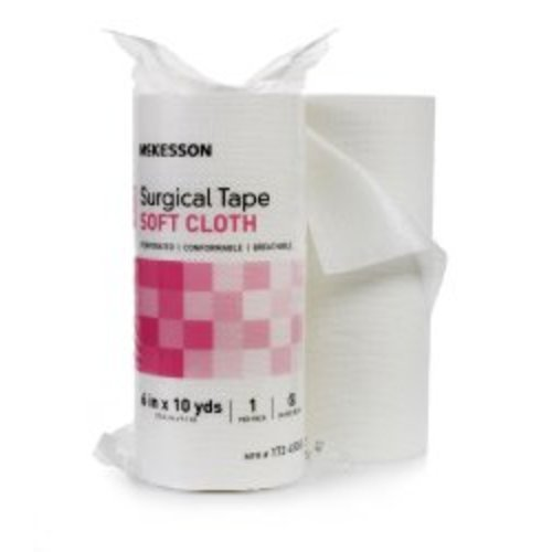 McKesson Nonsterile Cloth Medical Tape, 6 Inch x 10 Yard, White, 6/CS