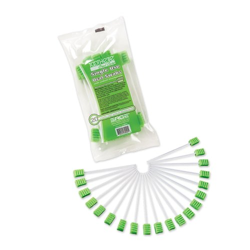 Sage® Toothette® Plus Swabs With Sodium Bicarbonate, 20/PK