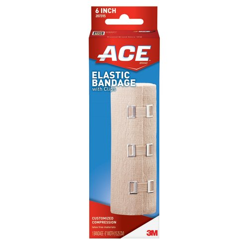ACE™ Brand Elastic Bandage with Clips, 6 Inch, 1/EA
