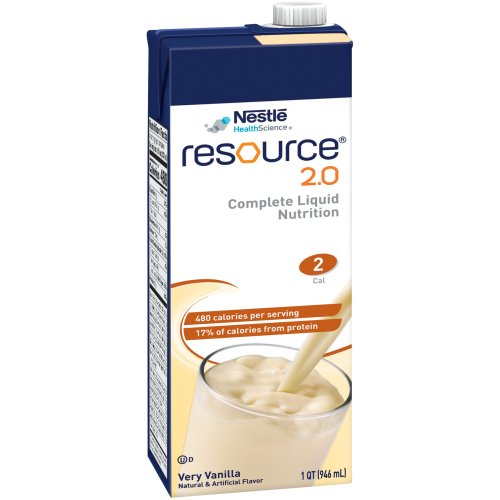 Resource® 2.0 Ready to Use Oral Supplement, Vanilla, 32 oz. Carton, 1/EA
