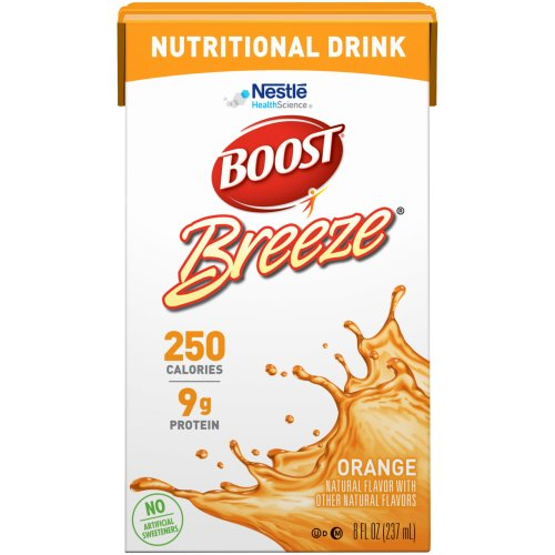 Boost Breeze® Ready to Use Oral Supplement, Orange, 8 oz. Carton, 1/EA
