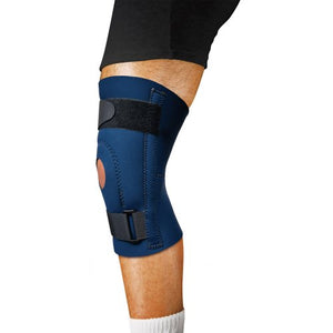 Scott Specialties Knee Support, Medium Sleeve / Open Patella, Blue, 1/EA