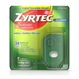 Zyrtec® Allergy Relief, 1/BX