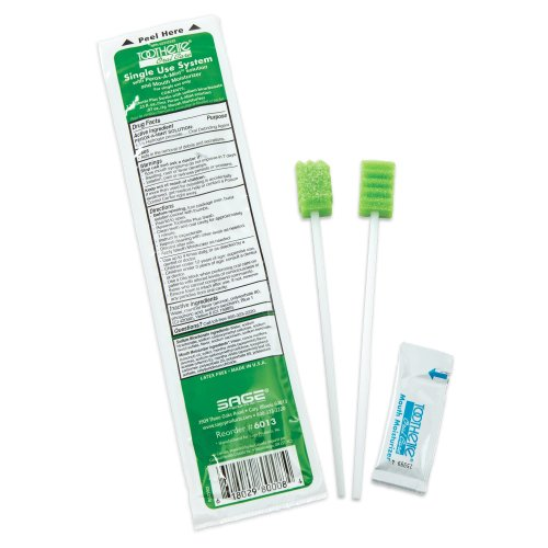 Sage® Toothette® Oral Swab Kit With 2 Swabs, 100/CS