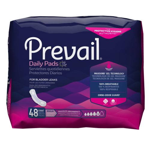 Prevail® Daily Pads Ultimate Adult Disposable Heavy-Absorbent Bladder Control Pad, 16 Inch Length, 33/PK
