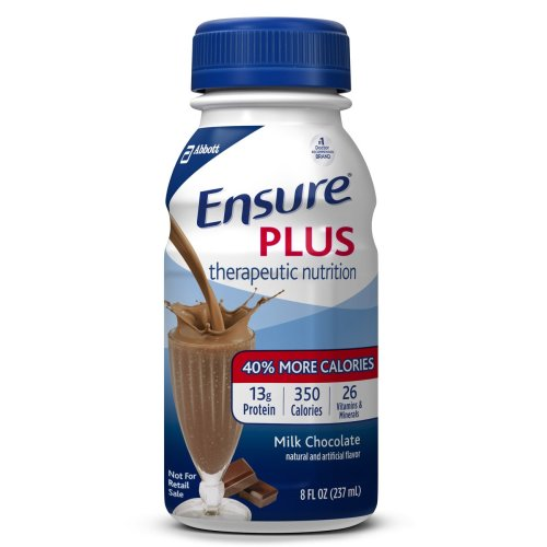 Ensure® Plus Oral Supplement, Chocolate, 8 oz. Bottle, 1/EA