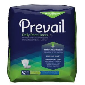 Prevail® Adult Disposable Moderate-Absorbent Bladder Control Pad, 13-1/2 Inch Length, 52/BG
