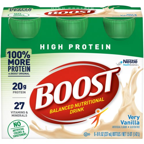 Boost® High Protein Ready to Use Oral Supplement, Vanilla, 8 oz. Bottle, 24/CS