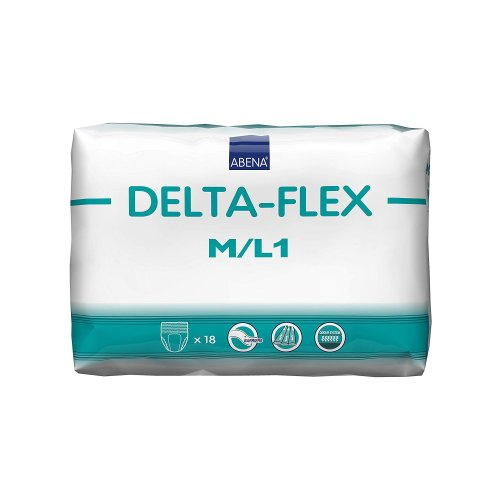 Abena® Delta-Flex L1 Adult Moderate Absorbent Underwear, Medium / Large, White, 18/BG