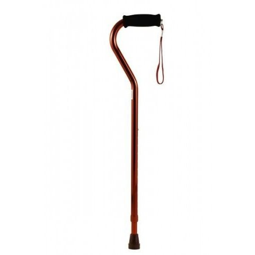 Bronze Offset Cane with Strap, 1/EA