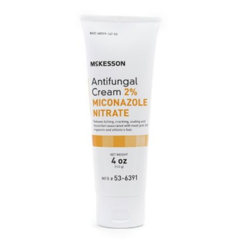 McKesson 2% Strength Antifungal Cream, 4 oz Tube, 1/TU