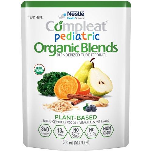 Compleat® Pediatric Organic Blends Ready to Use Oral Supplement / Tube Feeding Formula, Plant Blend, 10.1 oz. Pouch, 1/EA