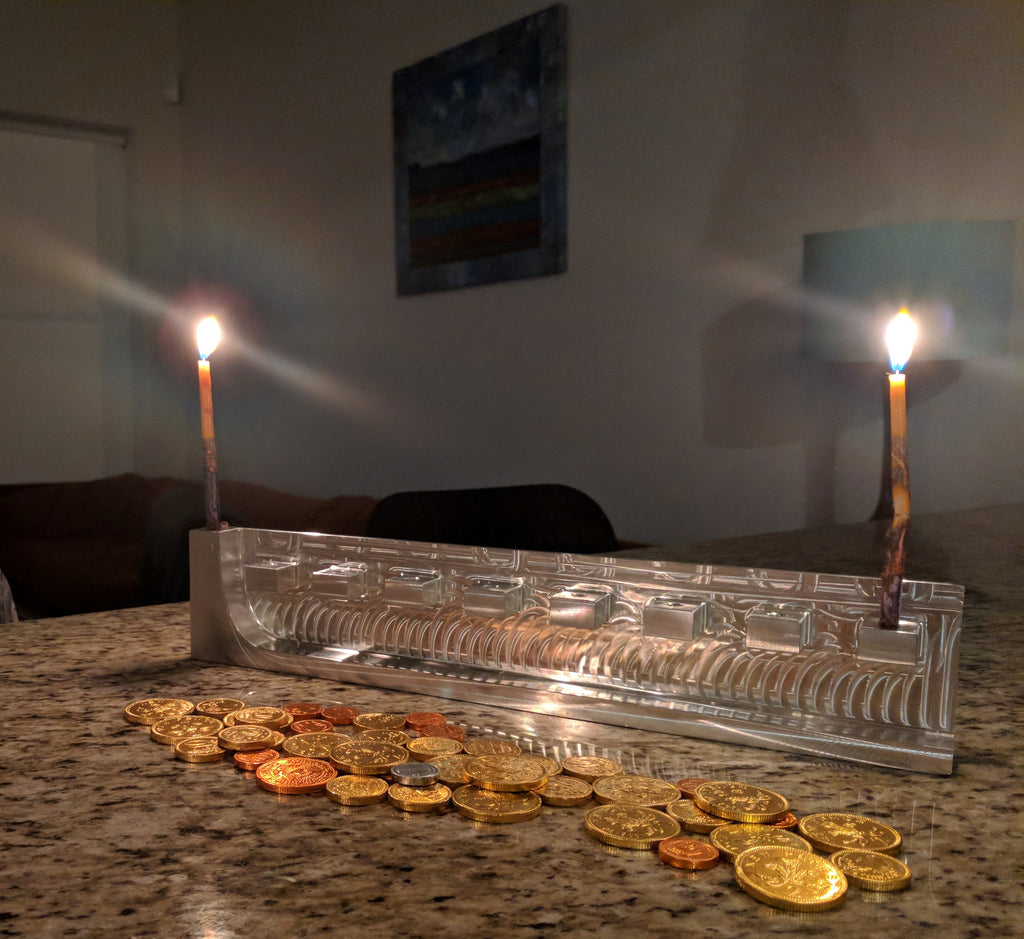 Block Hanukiah (Menorah)