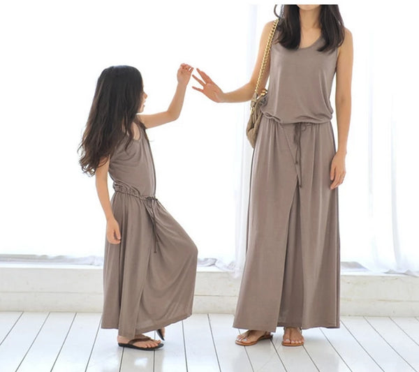 Shonlo | summer matching mother daughter clothes dresses
