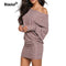 Shonlo | One Shoulder Loose Knitted Plus Size Dresses