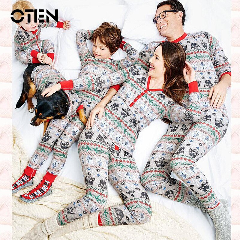 Shonlo | Autumn family pajamas Night Sleepwear
