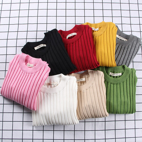 Shonlo | Solid Color Knitted Pullovers