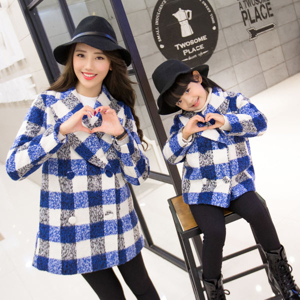 Shonlo | Mother and Daughter Clothes Plaid Jacket Outwear